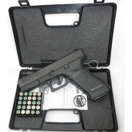 Pistola Arma Detonadora Fogueo Bruni Glock 17 GAP taliana Usa Balas Salva Proveedor