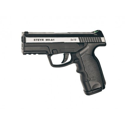 PISTOLA CO2 M9-A1 POLIMERO  BALIN METALICO 4.5 449 fps