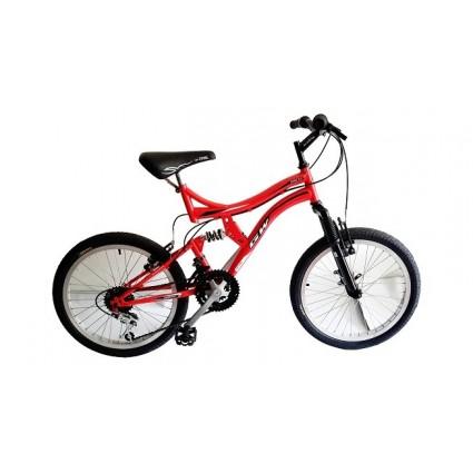 Bicicleta Gw Dione Todoterreno Rin 20 en aluminio Cambios Tipo Moto 18 velocidades.