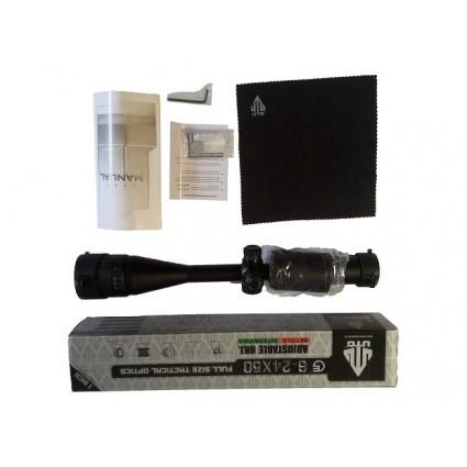Mira Telescópica UTG 6-24X50 Tactical sight optical  Mil dot / restablecimiento del alcance del Rifle.