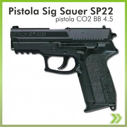 Pistola Co2 Sigsauer Sp22 Balin 4.5 Manifiesto Aduana Legal