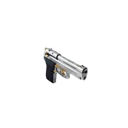 Pistola de Fogueo Ekol Firat Compact  Niquelada Dorado 9mm