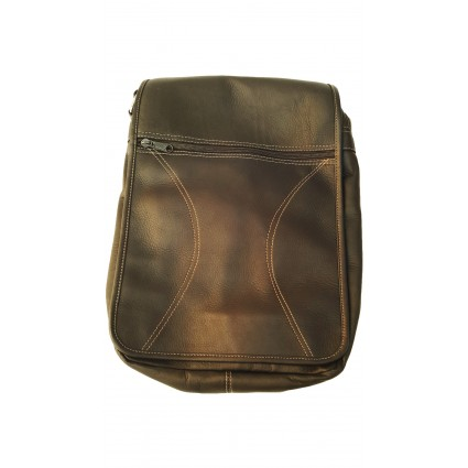 Bolso Carriel De Cuero Colombiano Con Broches Doble C