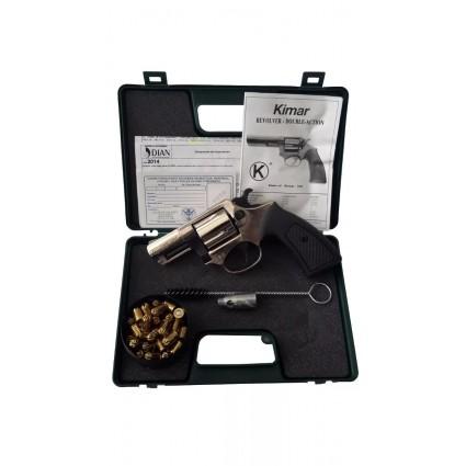 Revolver Fogueo Kimar Niquel Corto 380 Competitive Salvas Detonador