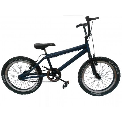 Bicicleta Cross Rin 20 Aluminio Doble Llanta 20x2.125 Pintura Crackelada