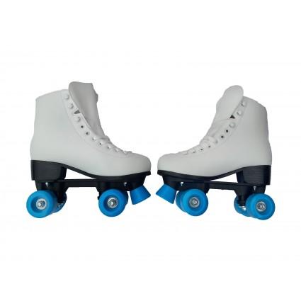 Patines Patin 4 Ruedas Llantas Blancos Roller Skate Artistic