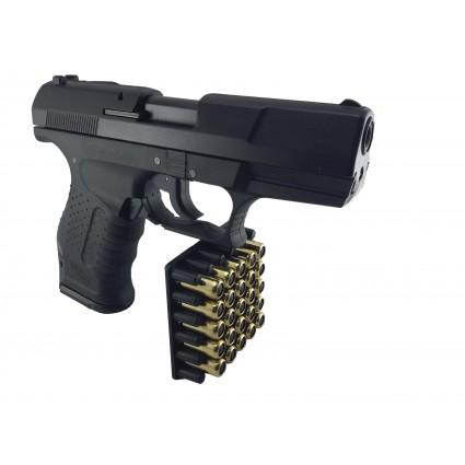 Pistola traumatica lord negra P99 Salva Goma cañon Abierto