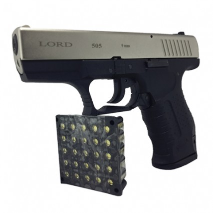 Pistola traumatica lord satina Glock 17 Gap 505 Cañon Abierto
