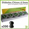 Diabolo Chino 4.5mm Caja X 200 para Carabina Rifle Escopeta Aire Crosman