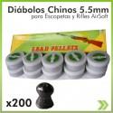 Diabolo 5.5 Caja X 200 Unidades Rifles Escopetas Carabina