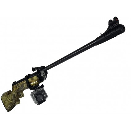Combo Rifle Escopeta Aire B2-3c Neumatico 5.5 Polimero Camuflado - Camara Deportiva A7 Acuativa sumergible 30m 720HD recargable