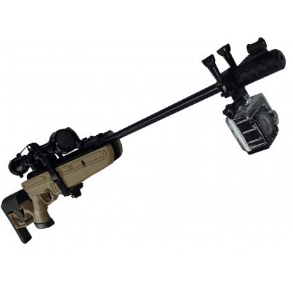 Combo Rifle Swiss Tg1 1000 Fps 5.5 Culata Polimero Ajustable Arena - Camara Deportiva A7 Acuativa con Mira 4x40