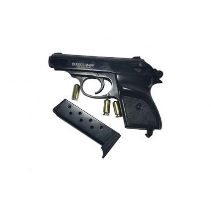 Pistola Fogueo EKOL Major Negro ppk Salva 9mm Full Metal