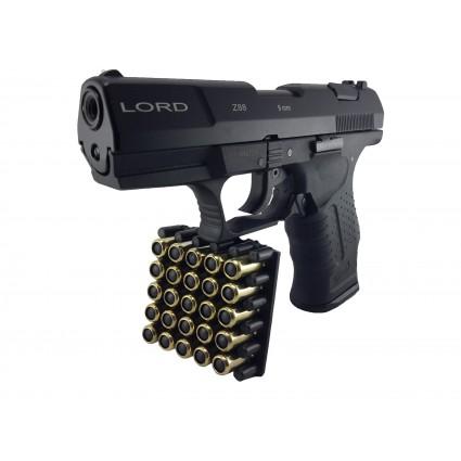 Pistola traumatica lord kakhi P99 Z88 Salva Goma Cañon Abierto