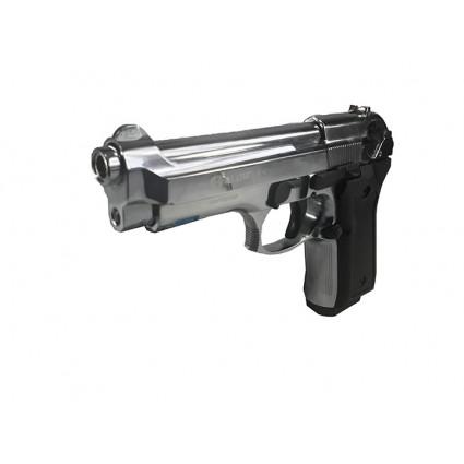 Pistola Traumatica Blow F 92 Cromado Cañon Abierto Bala Goma 9mm