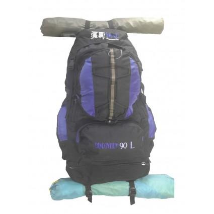 Morral Camping Varillas Discovery Smar 90 Litros Azul