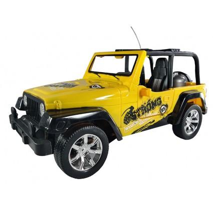 Jeep Control Remoto Puertas Automaticas Luces Descapotado Amarillo