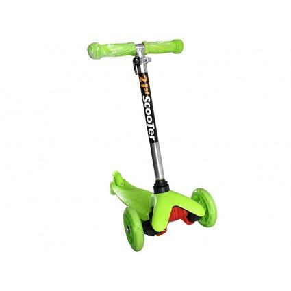 Scooter Patineta Hidráulica Monopatín Color Verde Niños