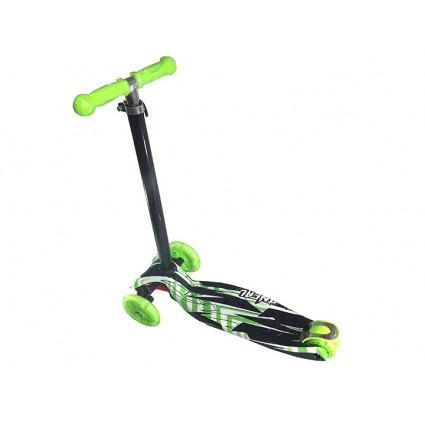 Scooter Patineta Hidráulica Estampada Monopatín Oneal Verde Niño