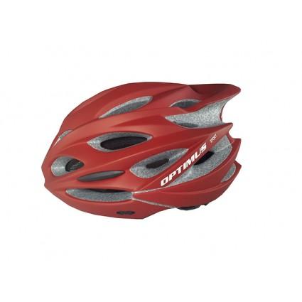 Cascos Optimus Ciclismo Bicicletas Montaña Ruta Mtb Ajustable Rojo Mate