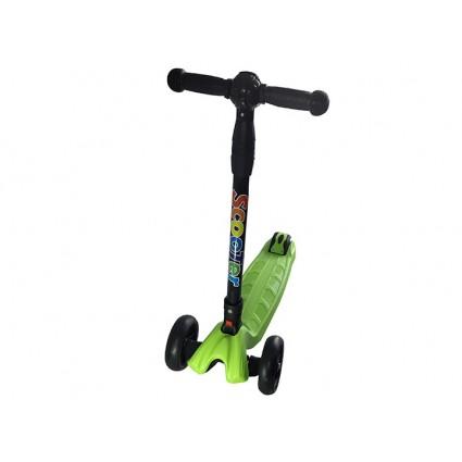 Scooter Sporting Grande Timón Plegable Llantas Luces Verde
