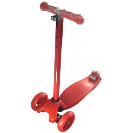 Scooter Patineta Monopatín Hidráulico Mediano Unicolor Rojo 316 Llantas Grandes