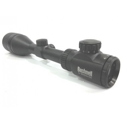 Mita Telescopica Busnhell 3a9x50 Reticula Iluminada Riel 11 mm Rifles