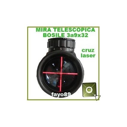 Mira Telescopica Bosile 3 A 9 X 32 Luz Cruz Laser Rieles