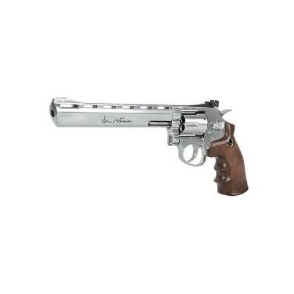 """Revolver Dan Wesson 8"""" Plateado CO2 Balines 344 FPS"""