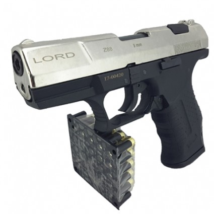 Pistola traumatica lord white P99 Z88 Cañon Abierto