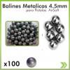 100 Balines Metalico 4.5 Bb Para Pistola Co2 Prieto Walther