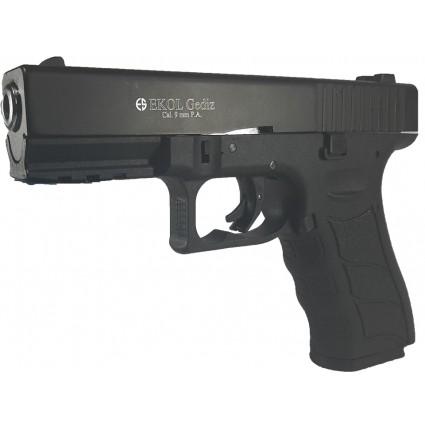 Pistola Traumatica Ekol Gediz  Black Cañon Abierto Bala Goma